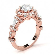 Or Rose Contemporaines Bague de fiançailles
