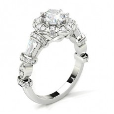 Platinum Halo Engagement Rings