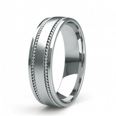 6.00mm Slight Comfort Fit Mens Plain Wedding Band