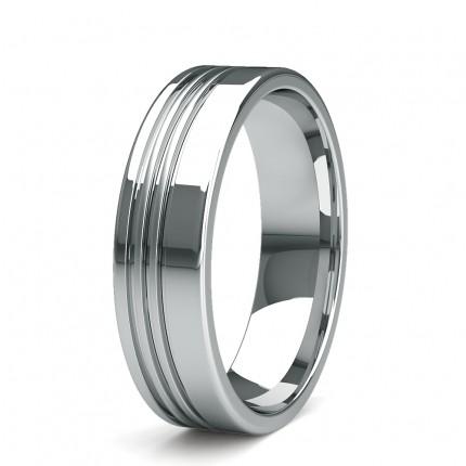5.80mm Flat Profile Slight Comfort Fit Mens Plain Wedding Band