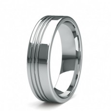 5.80mm Flat Profile Slight Comfort Fit Mens Plain Wedding Band