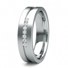 5.60 Studded Flat Profile Mens Diamond Wedding Band