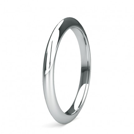 2.00mm Slight Comfort Fit Plain Wedding Band