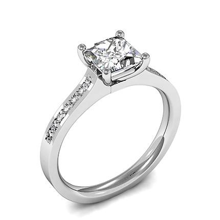 56647c9432635 Bague de fiançailles solitaire diamant rond serti clos - Diamonds Factory