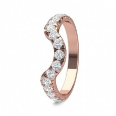 Round Rose Gold Contemporary Women
