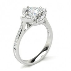 White Gold Halo Diamond Engagement Rings