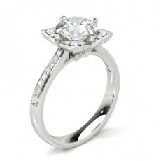 Round Halo Engagement Rings
