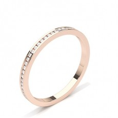 3.40mm Studded Slight Comfort Fit Diamond Wedding Band