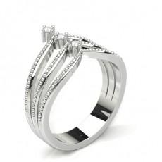 White Gold  Statement Diamond Rings
