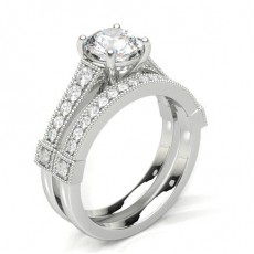 White Gold Bridal Set Engagement Rings