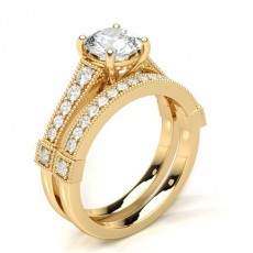 Yellow Gold Bridal Set Engagement Rings