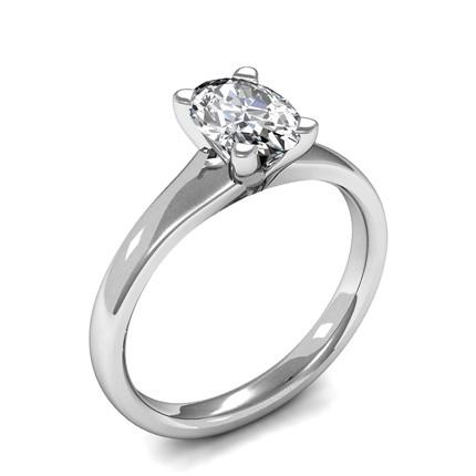 Online Schlichten Ovalen Diamant Verlobungsring Mit 4 Krappenfassung
