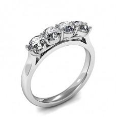 Alliance demi-tour diamant rond serti 4 griffes