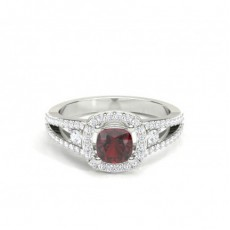 Cushion Gemstone Engagement Rings
