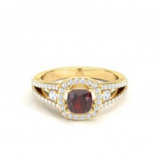 Yellow Gold Gemstone Engagement Rings