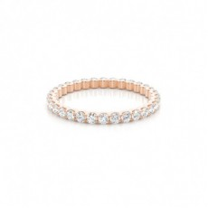 Rose Gold Diamond Eternity Rings
