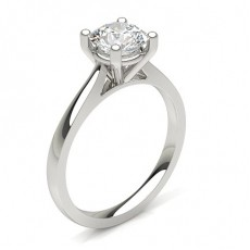 Round Classic Solitaire Engagement Rings