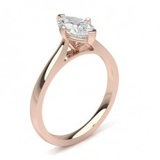 Marquise Rose Gold Engagement Rings