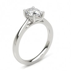Oval Platinum Solitaire Engagement Rings