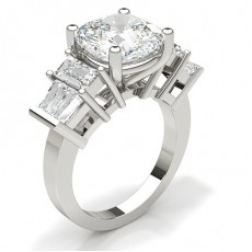 Cushion White Gold Anniversary Diamond Rings