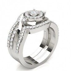 Round  Halo Diamond Engagement Rings