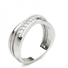 2.80mm Studded Standard Fit Diamond Wedding Band