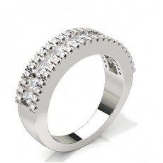 2.90mm Studded Standard Fit Diamond Wedding Band