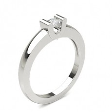 Bar Setting Round Diamond Ring