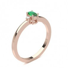 Oval Rose Gold Gemstone Diamond Rings