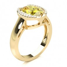 Oval Yellow Gold Yellow Diamond Rings