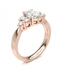 Oval Rose Gold 7 Stone Diamond Rings