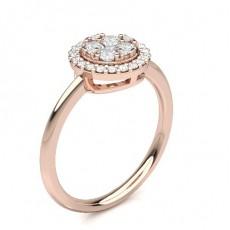 Rose Gold Cluster Diamond Rings