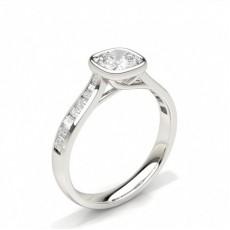 Cushion Side Stone Engagement Rings