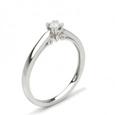 8 Prong Setting Round Diamond Engagement Ring