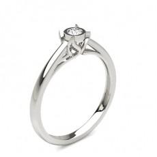 Round Platinum Solitaire Diamond Engagement Rings