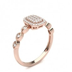 Rond Or Rose Bagues Diamant