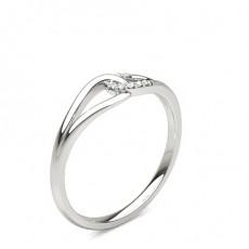 Round Silver Statement Diamond Rings