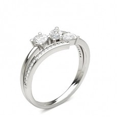 Platinum Statement Diamond Rings