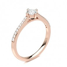 Rose Gold Side Stone Diamond Engagement Rings