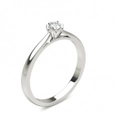 6 Prong Setting Round Diamond Engagement Ring