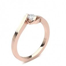 Rose Gold Solitaire Diamond Rings
