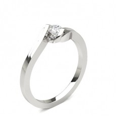 Tension Setting Round Diamond Engagement Ring