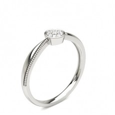 Pave Setting Round Diamond Cluster Ring