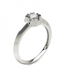 Prong Setting Round Diamond Engagement Ring