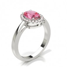 Oval White Gold Diamond Rings