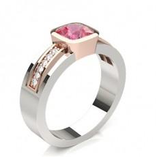 Cushion Rose Gold Diamond Rings