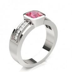 Cushion Platinum Diamond Rings