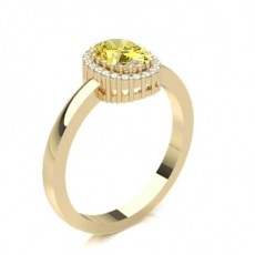 Oval Yellow Gold Yellow Diamond Engagement Engagement Rings