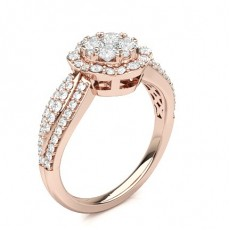 Rose Gold Cluster Diamond Rings