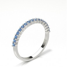 Silver Half Eternity Diamond Rings